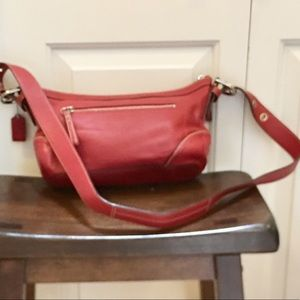 Authentic Coach leather crossbody bag